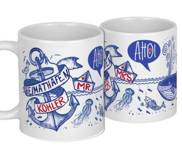 Geschenkidee Hochzeitsgeschenk Set Anker Tassen Markengeschenke