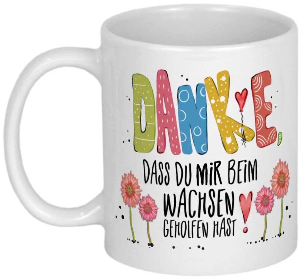 Kindergarten Abschiedsgeschenk Tasse Erzieherin Geschenk Abschied Danke Dass Du Uns Beim Wachsen Geholfen Hast