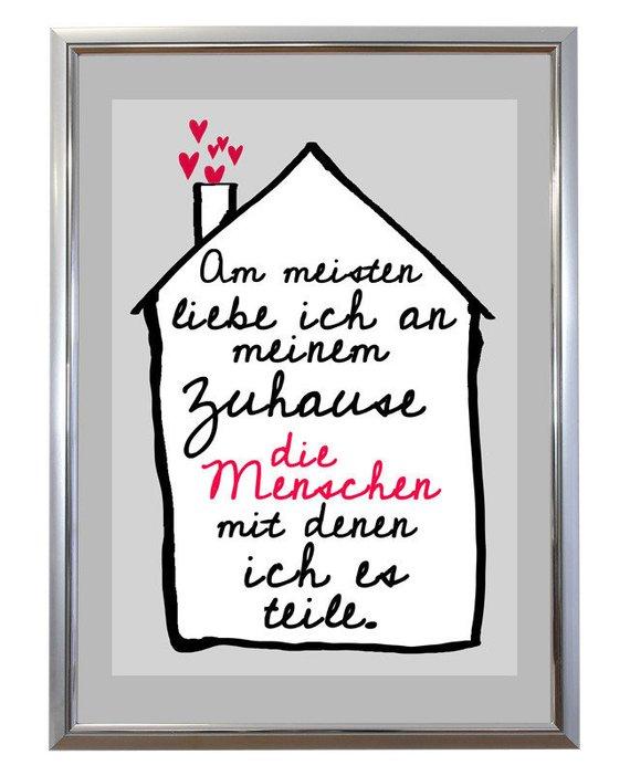 Kunstdruck Spruch Familie Zuhause