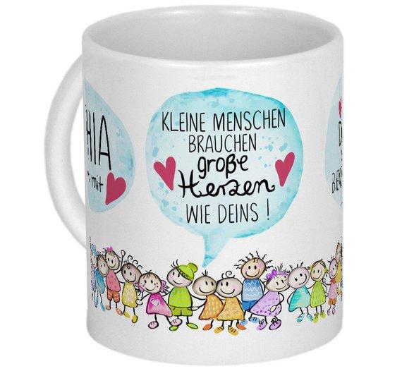 Kleine Menschen Tasse Erzieher Geschenk Kita Kindergarten