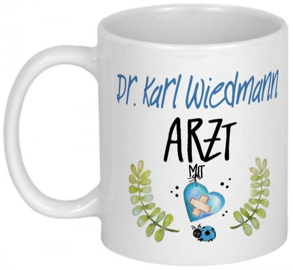 Personalisierte Tasse als Dankeschön für Arzt Geschenk
